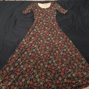 LulaRoe Ana dress with dandelion print
